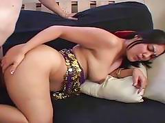 Indian wife bends over and gets hard doggystyle