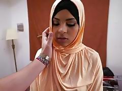 Arab prostitute gets paid to fuck rich guy with big hard dick