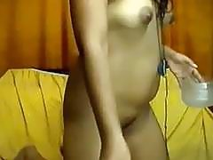 Indian girl with small breast