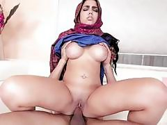 Big tits Arab babe Ada gets ripped hard