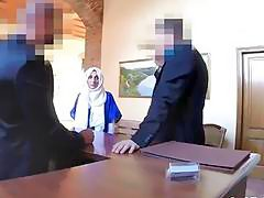 Rough hotel room pounding for hot Arab ex gf