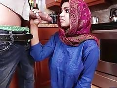 Arab teen babe Ada gets her pussy pounded and creampied